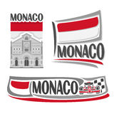 Vector logo for Monaco Royalty Free Stock Image