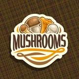 Vector logo for Mushrooms Royalty Free Stock Photo