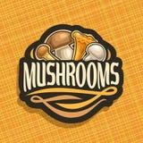 Vector logo for Mushrooms Royalty Free Stock Photos