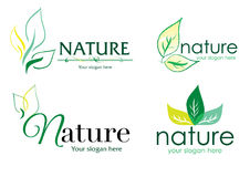 Vector logo nature 1. A collection of vector logos with nature theme Royalty Free Stock Image