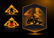 Vector logo 4x4. Off-road 4x4. Vector orange illustration Stock Illustration