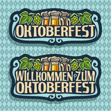Vector logo for Oktoberfest Royalty Free Stock Photos
