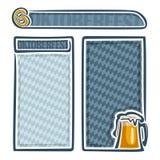 Vector logo for oktoberfest menu Stock Image