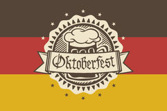 Vector logo for Oktoberfest in the pub or bar during the fest, beer mug  Stock Photo