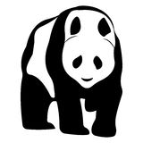 Vector logo panda. Brand color silhouette icon. Royalty Free Stock Image