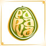 Vector logo for Papaya Stock Image