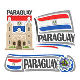 Vector logo Paraguay Stock Image
