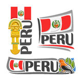Vector logo Peru Royalty Free Stock Photos