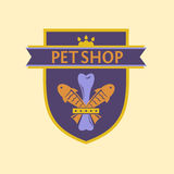 Vector logo for a pet store in heraldic style Stock Photos