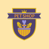 Vector logo for a pet store in heraldic style Stock Image