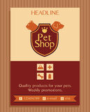 Vector logo for a pet store in heraldic style Royalty Free Stock Image