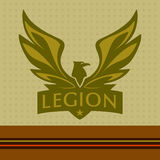 Vector logo with a picture of an eagle. Legion Stock Images