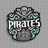 Vector logo for Pirate theme Royalty Free Stock Images