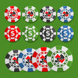 Vector logo poker Chips Royalty Free Stock Photos
