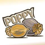 Vector logo for Poppy pod Royalty Free Stock Photography