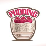 Vector logo for Pudding royalty free illustration