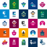 Vector logo purse. Purse logo design template. Vector illustration of icon Royalty Free Stock Image