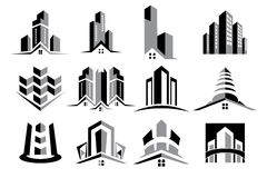 Vector Logo Real Estate Construction Set Royalty Free Stock Photo