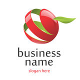 Vector logo and business environment. Vector logo red apple business environment Royalty Free Stock Image
