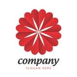 Logo holiday hearts Stock Images