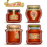 Vector logo Rose Hip Jam in Jars