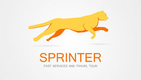 Vector logo with a running leopard Stock Photography