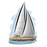 Vector logo sailing yacht Royalty Free Stock Images