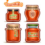 Vector logo Seabuckthorn Jam in Jars