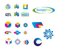 Vector Logo Set Royalty Free Stock Photos
