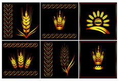 Vector logo set of Agriculture Royalty Free Stock Image