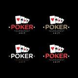 Vector Logo Set del póker Foto de archivo libre de regalías