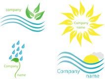 Vector logo set Royalty Free Stock Photo