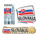 Vector logo Slovakia Royalty Free Stock Images