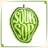 Vector logo for Soursop Fruit Stock Photo