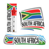 Vector logo South Africa Stock Photography