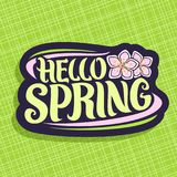 Vector Logo for Spring season Royalty Free Stock Image