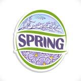 Vector logo for Spring season Stock Images