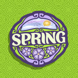 Vector logo for Spring season royalty free illustration