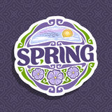 Vector logo for Spring season Royalty Free Stock Images