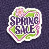 Vector logo for Spring season Sale Royalty Free Stock Photo