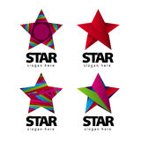 Vector logo with a star Royalty Free Stock Photography