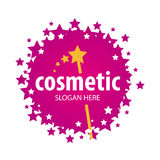 Vector logo of the stars for cosmetics Stock Image