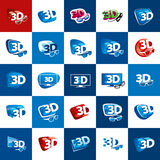 Vector logo stereoscopy Stock Photos