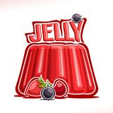 Vector logo for strawberry Jelly Stock Images