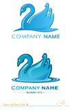 Vector logo swan project 3. Two variants of the swan symbol Royalty Free Stock Images