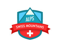 Vector Logo of Swiss Mountains Royalty Free Stock Photography