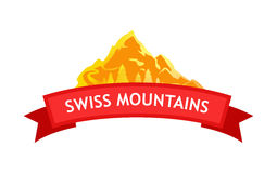 Vector Logo of Swiss Mountains Stock Image