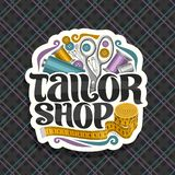 Vector logo for Tailor Shop stock illustration