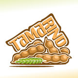 Vector logo Tamarind Fruit Stock Image