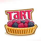 Vector logo for Tart dessert Stock Images